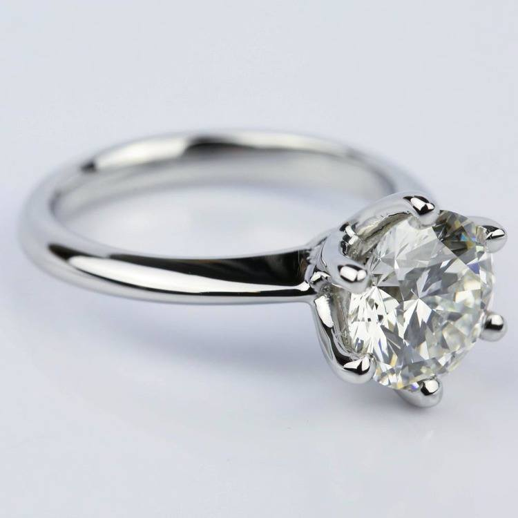 2.38 Carat Classic Six Prong Round Solitaire Engagement Ring angle 3