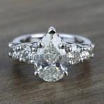 2.5 Carat Pear Trellis Diamond Engagement Ring - small