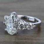 2.5 Carat Pear Trellis Diamond Engagement Ring - small angle 2