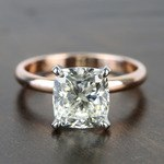 2.50 Carat Comfort-Fit Cushion Solitaire Diamond Engagement Ring - small