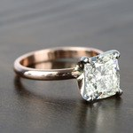 2.50 Carat Comfort-Fit Cushion Solitaire Diamond Engagement Ring - small angle 3