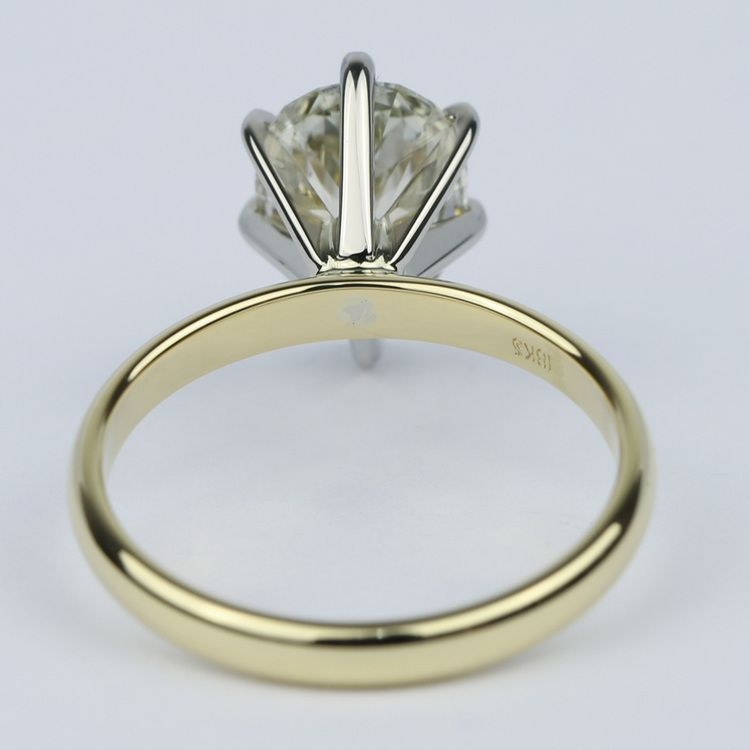 Fancy Brown & Yellow Pear Cut Diamond Solitaire Ring (2.50 Carat) angle 4