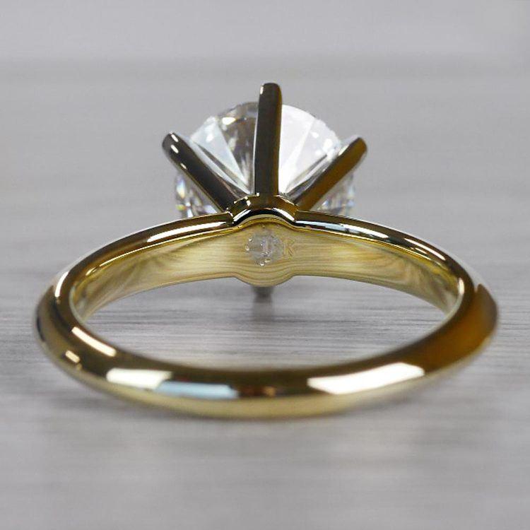 2.50 Carat Six Prong Round Cut Diamond Engagement Ring angle 4