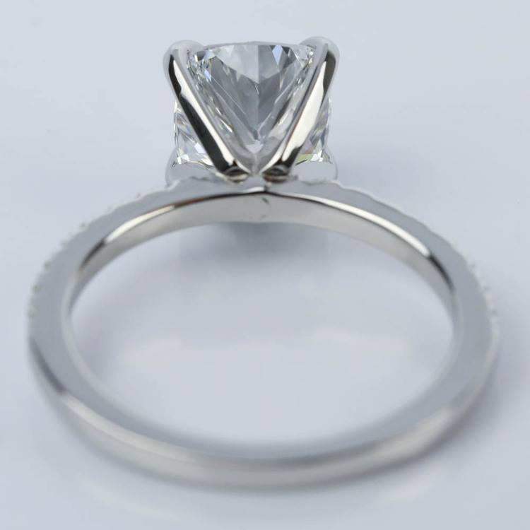 2 Carat Cushion Diamond Engagement Ring in Platinum angle 4