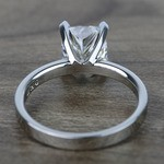 2 Carat Cushion Flat Solitaire Diamond Engagement Ring - small angle 4