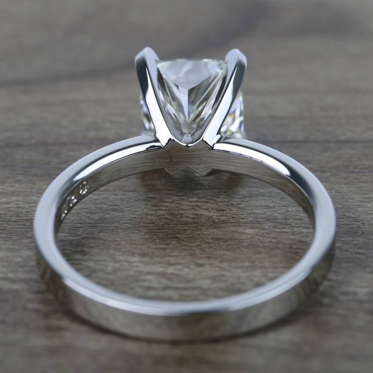2 Carat Cushion Flat Solitaire Diamond Engagement Ring angle 4