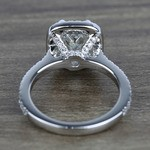 2 Carat Cushion Petite Halo Diamond Engagement Ring - small angle 4