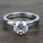2 Carat Custom Comfort-Fit Round Solitaire Diamond Engagement Ring - small