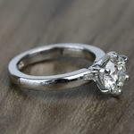 2 Carat Custom Comfort-Fit Round Solitaire Diamond Engagement Ring - small angle 3