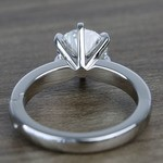 2 Carat Custom Comfort-Fit Round Solitaire Diamond Engagement Ring - small angle 4