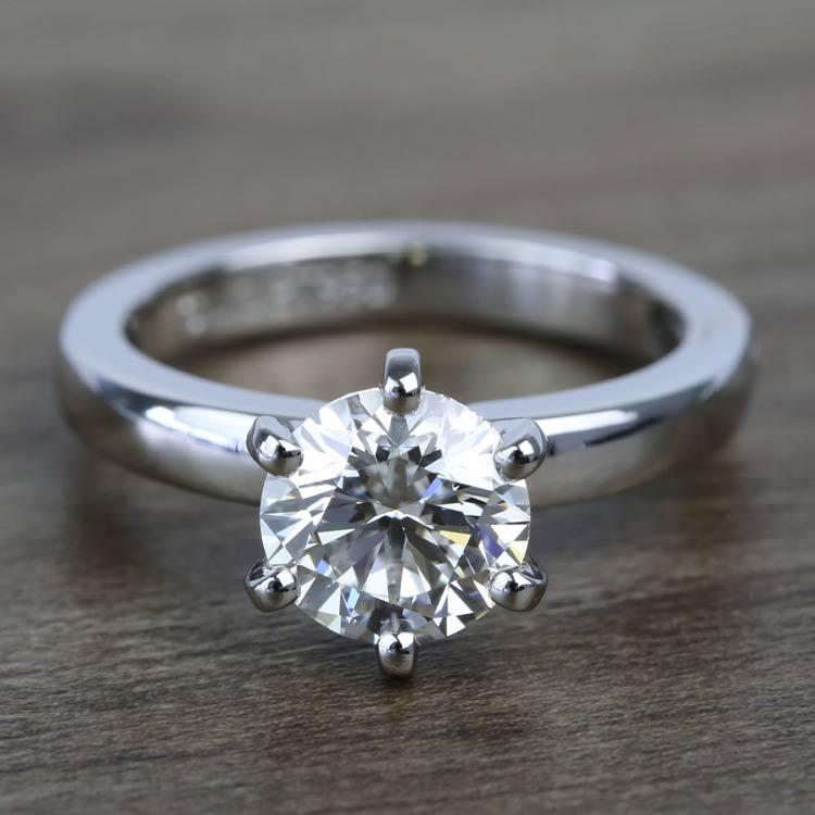 2 Carat Custom Comfort-Fit Round Solitaire Diamond Engagement Ring