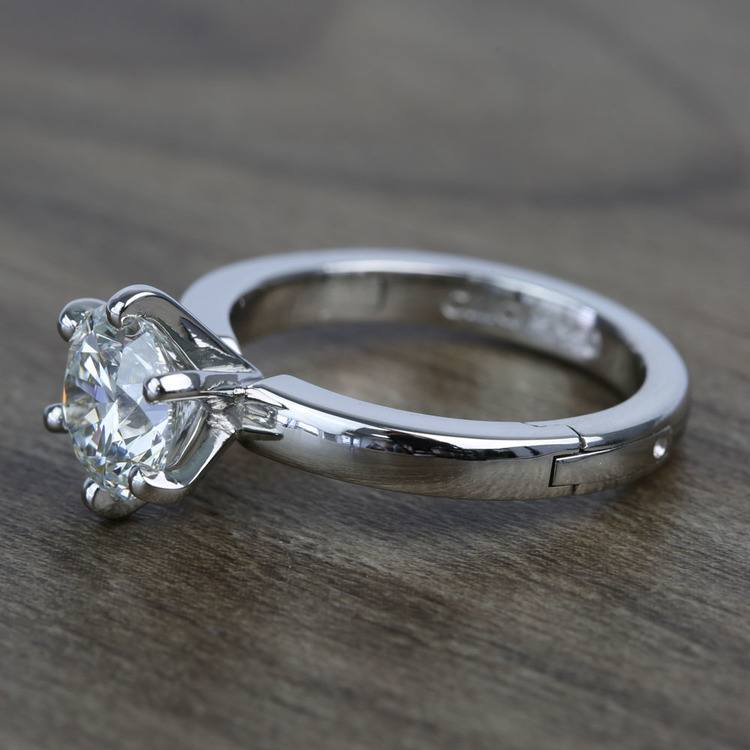 2 Carat Custom Comfort-Fit Round Solitaire Diamond Engagement Ring angle 2