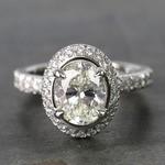 2 Carat Custom Oval Halo Diamond Engagement Ring - small