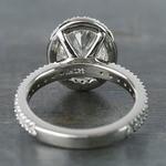 2 Carat Custom Oval Halo Diamond Engagement Ring - small angle 4
