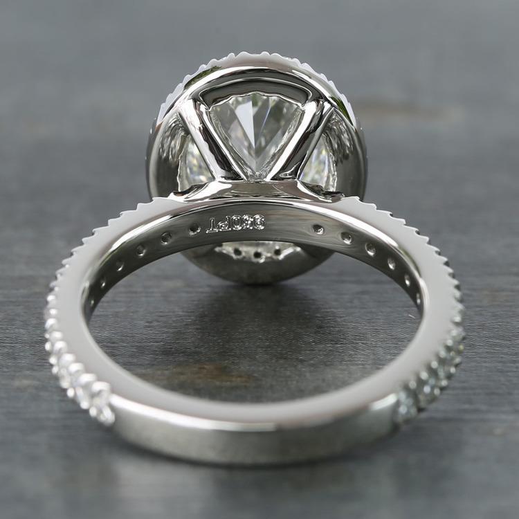 2 Carat Custom Oval Halo Diamond Engagement Ring angle 4