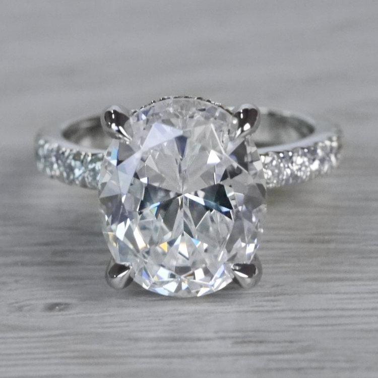 2 Carat Diamond Oval Cut Engagement Ring