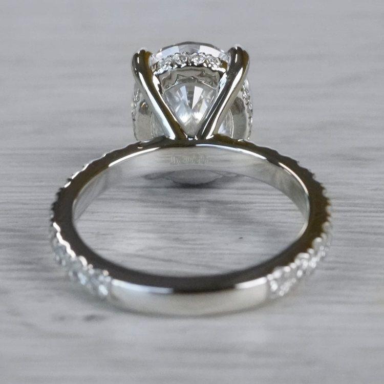 2 Carat Diamond Oval Cut Engagement Ring angle 4
