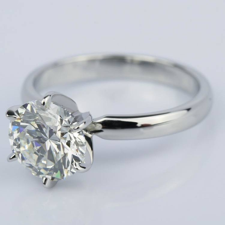 2 Carat Diamond Solitaire Engagement Ring in Platinum angle 2