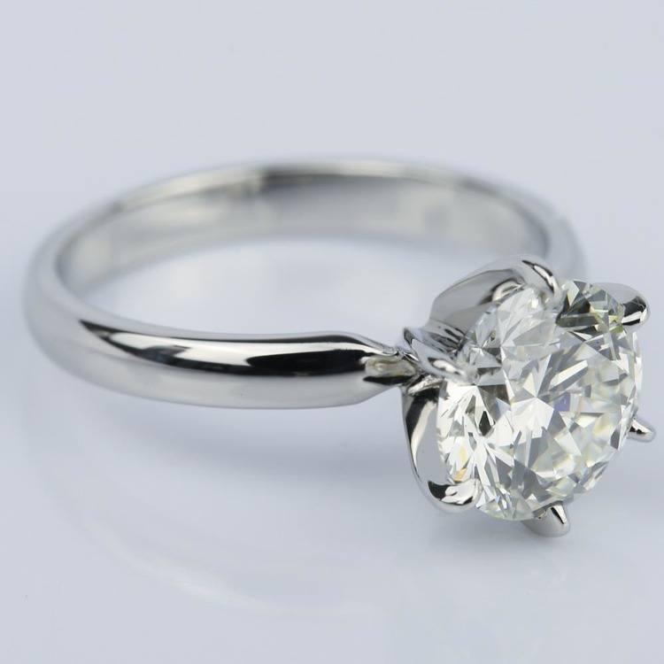 2 Carat Diamond Solitaire Engagement Ring in Platinum angle 3