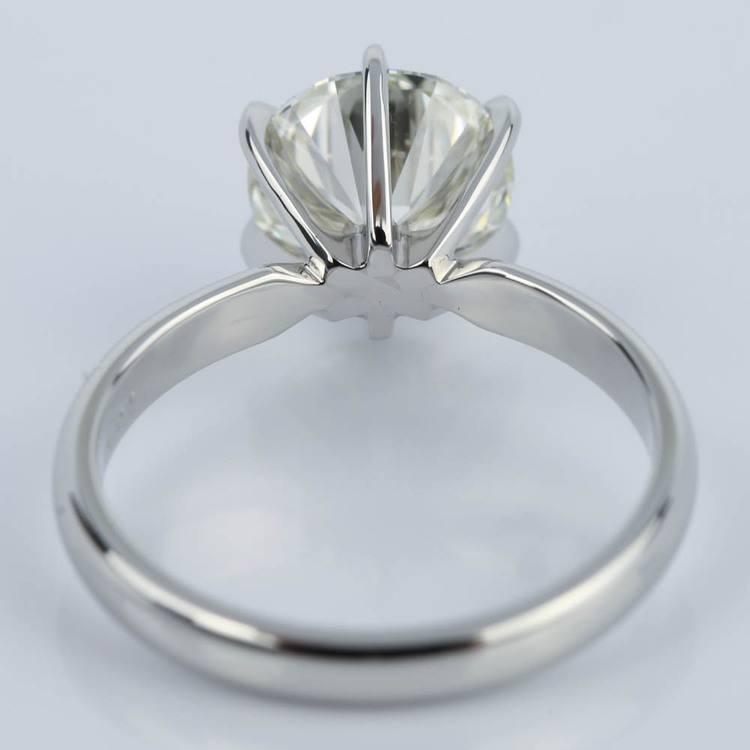 2 Carat Diamond Solitaire Engagement Ring in Platinum angle 4