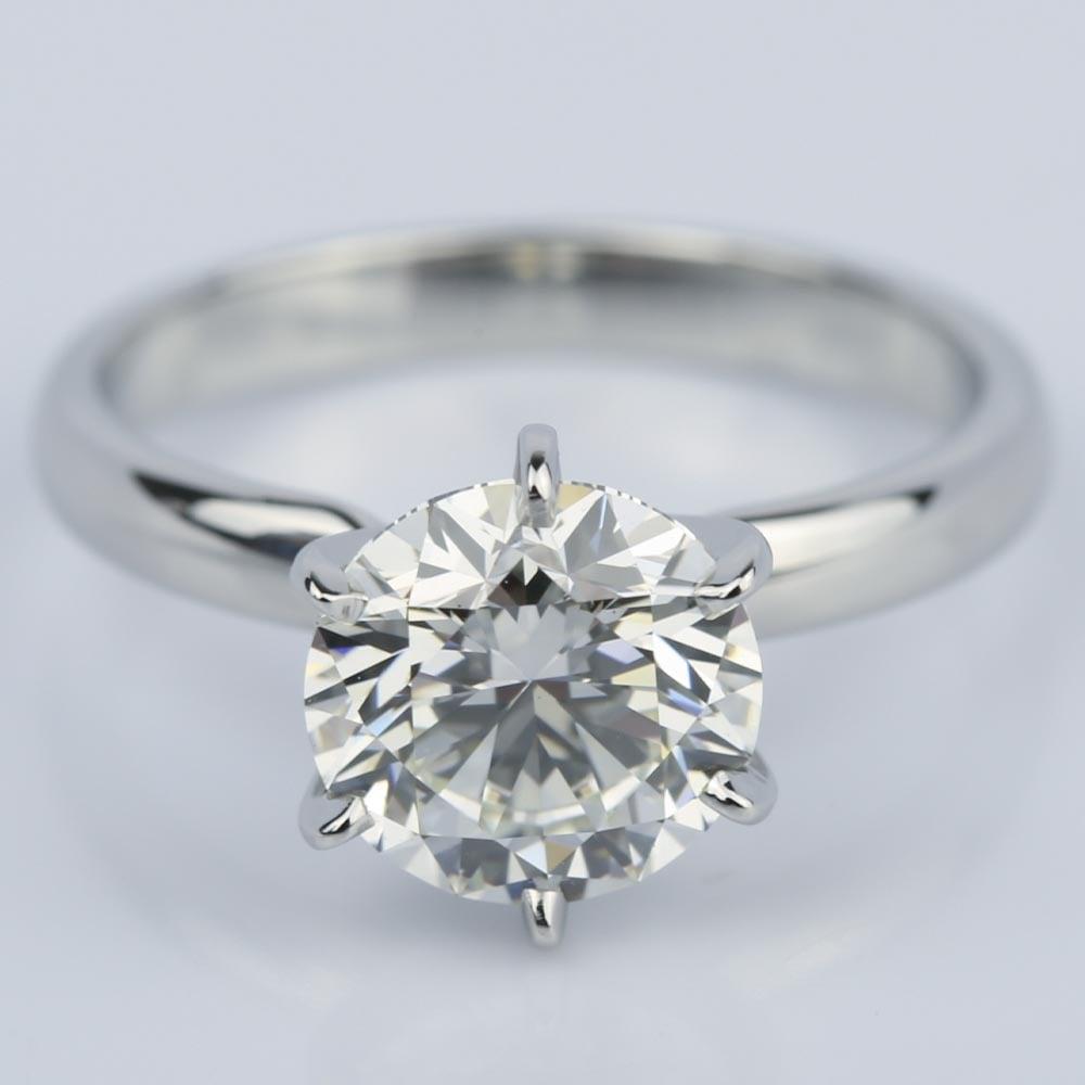 2 carat diamond solitaire engagement ring in platinum. Black Bedroom Furniture Sets. Home Design Ideas