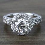 2 Carat Round Custom Halo Diamond Ring - small