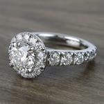 2 Carat Round Custom Halo Diamond Ring - small angle 2