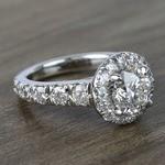2 Carat Round Custom Halo Diamond Ring - small angle 3