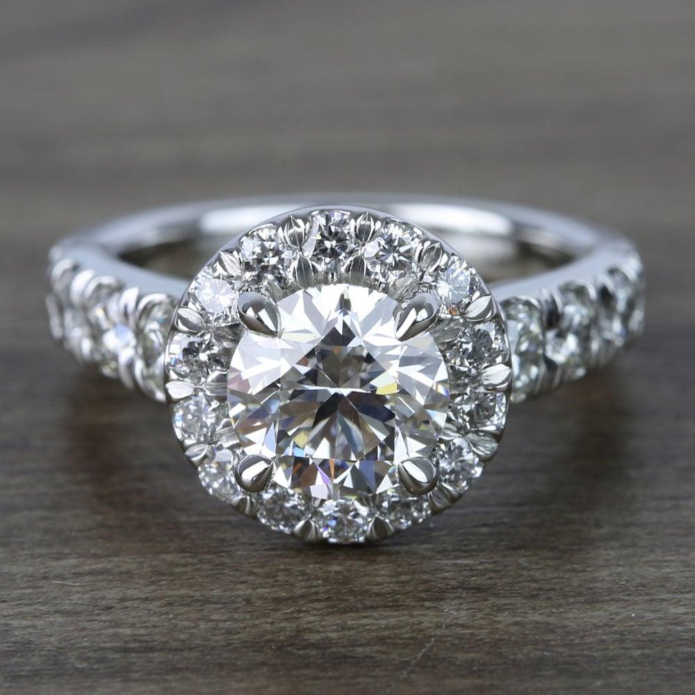 2 Carat Round Custom Halo Diamond Ring