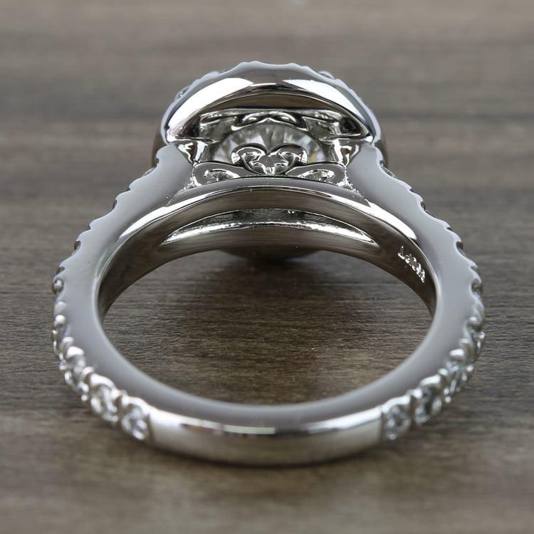 2 Carat Round Custom Halo Diamond Ring angle 4