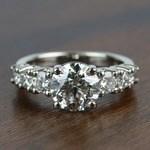2 Carat Round Custom U-Prong Diamond Engagement Ring - small