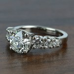 2 Carat Round Custom U-Prong Diamond Engagement Ring - small angle 2