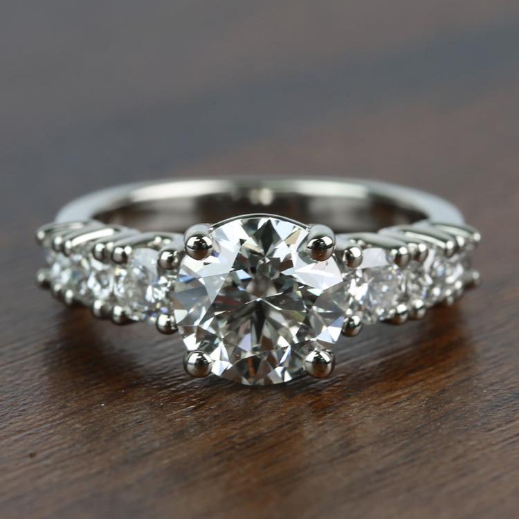 2 Carat Round Custom U-Prong Diamond Engagement Ring