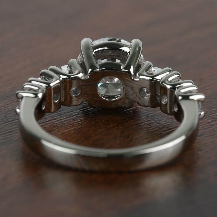 2 Carat Round Custom U-Prong Diamond Engagement Ring angle 4