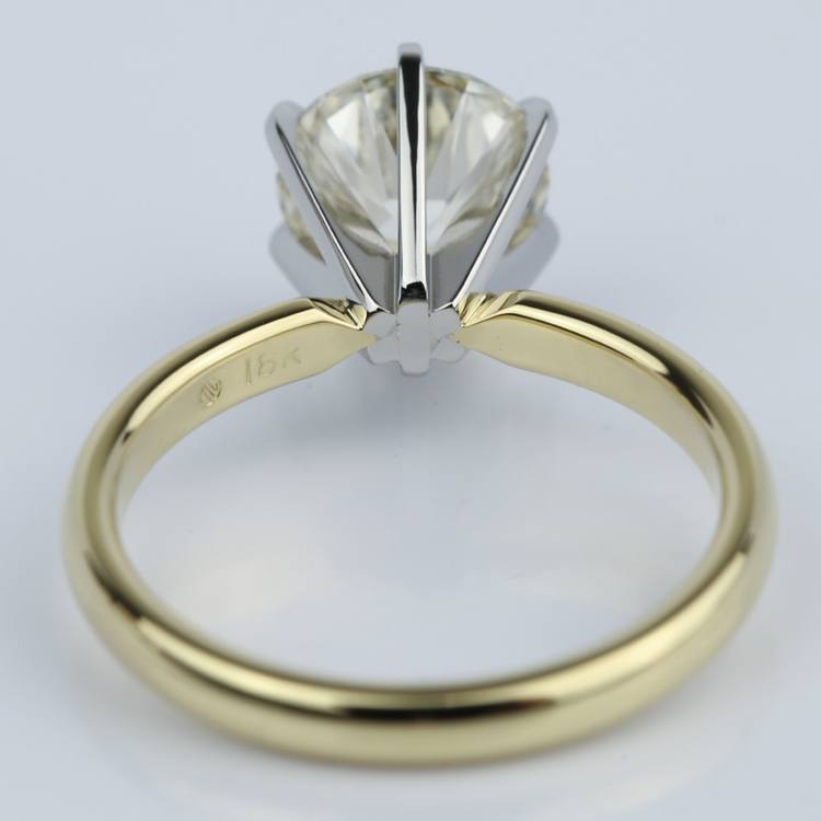 2 Carat Round Diamond Six-Prong Solitaire Engagement Ring angle 4