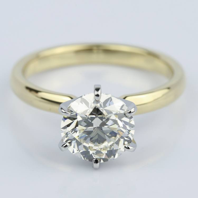2 Carat Round Diamond Six-Prong Solitaire Engagement Ring