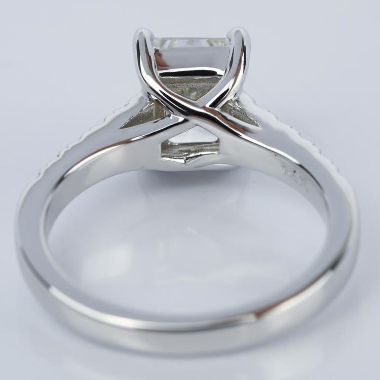 2 Carat Trellis Radiant Diamond Engagement Ring angle 4