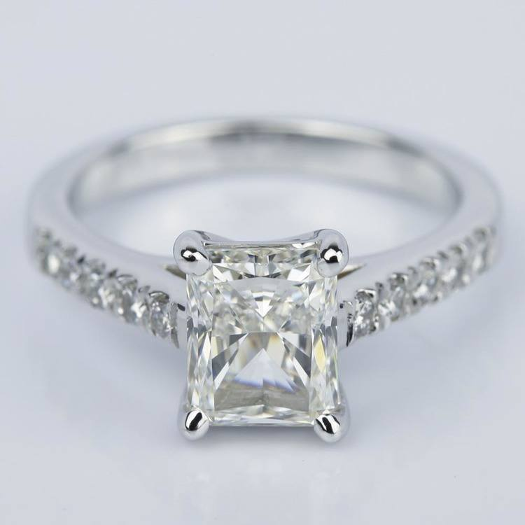 2 Carat Trellis Radiant Diamond Engagement Ring
