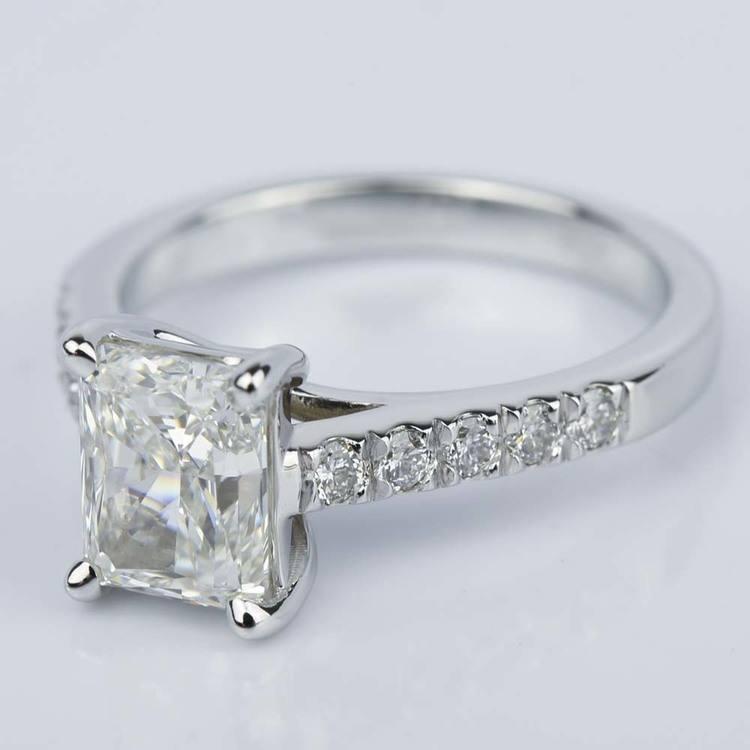 2 Carat Trellis Radiant Diamond Engagement Ring angle 2