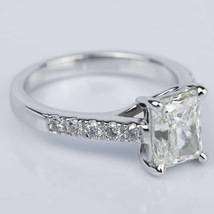 2 Carat Trellis Radiant Diamond Engagement Ring angle 3