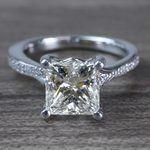 2.50 Carat Princess Cut Diamond Split Shank Engagement Ring - small