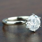 3.08 Carat Round Diamond In White Gold Six-Prong Solitaire Setting - small angle 3