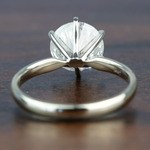 3.08 Carat Round Diamond In White Gold Six-Prong Solitaire Setting - small angle 4