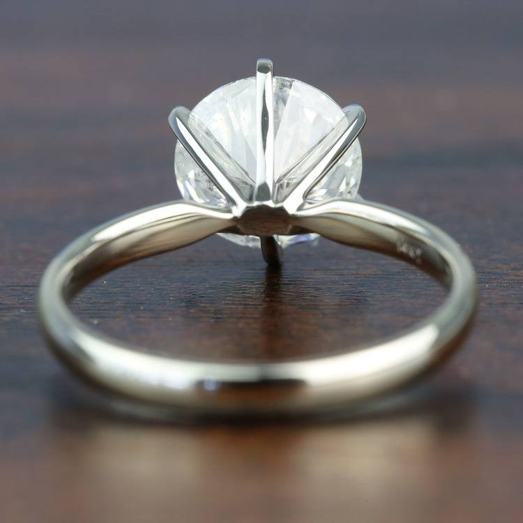 3.08 Carat Round Diamond In White Gold Six-Prong Solitaire Setting angle 4