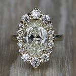 Dramatic Oval Halo Diamond Engagement Ring (3 Carat) - small