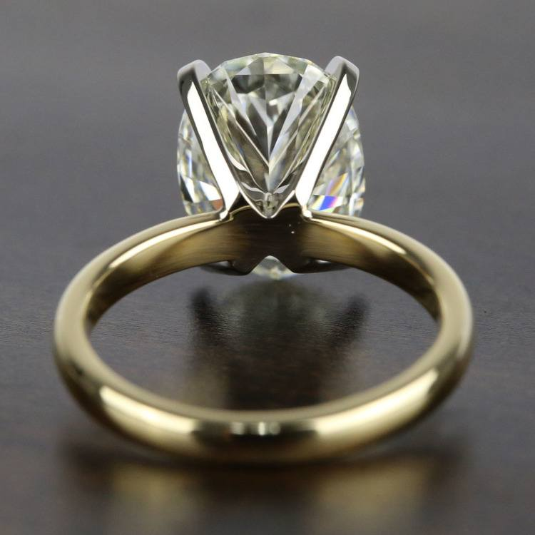 3 Carat Oval Diamond Solitaire Engagement Ring angle 4