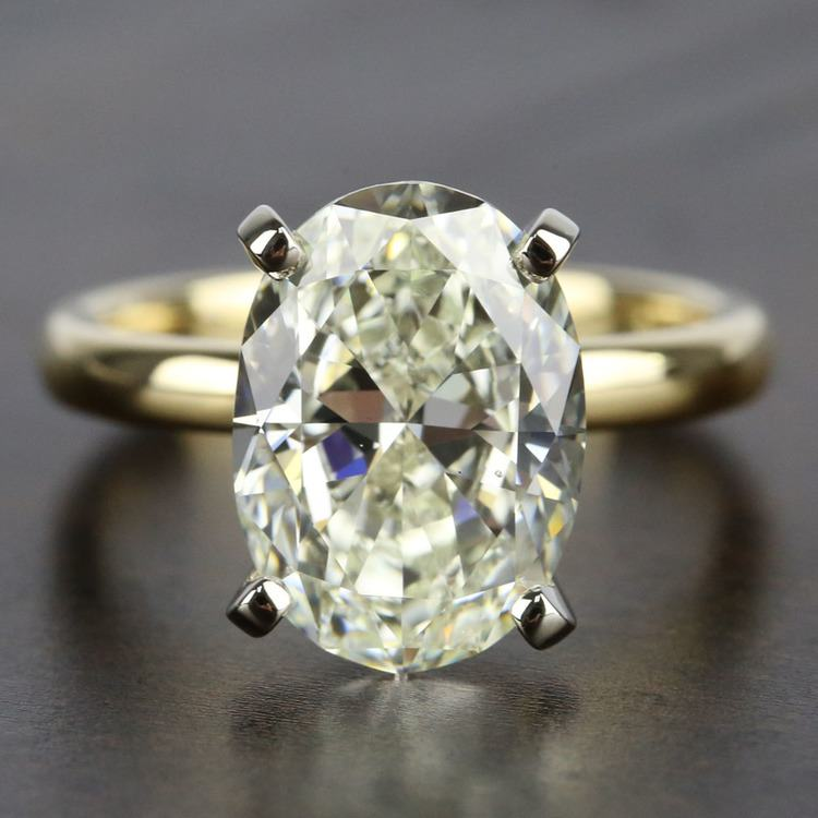 3 Carat Oval Diamond Solitaire Engagement Ring