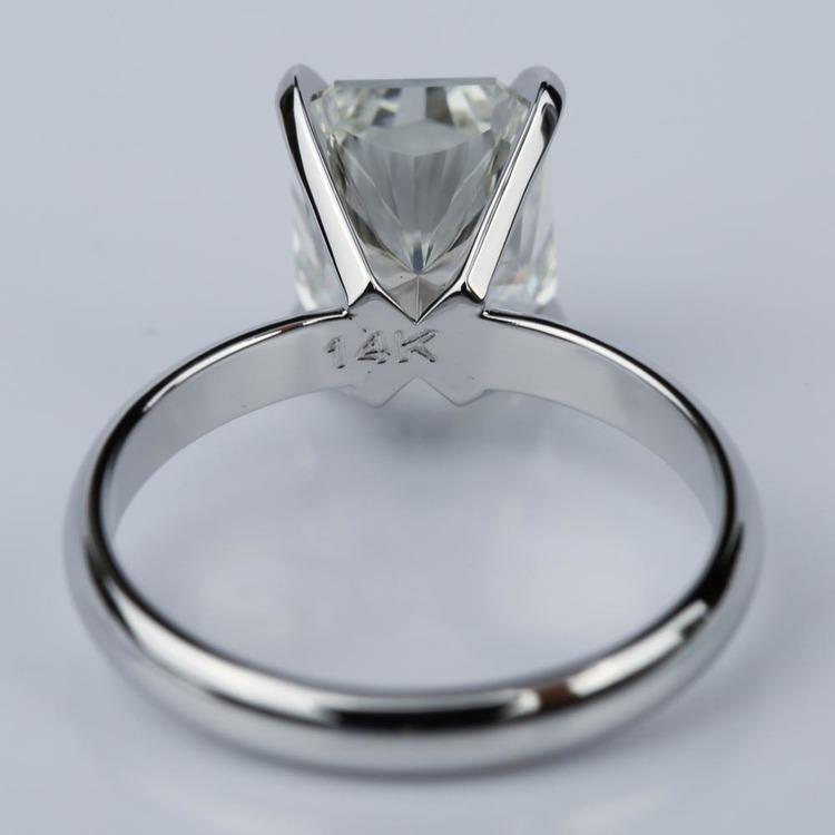 3.53 Carat Radiant Diamond with Classic Solitaire Engagement Ring angle 4