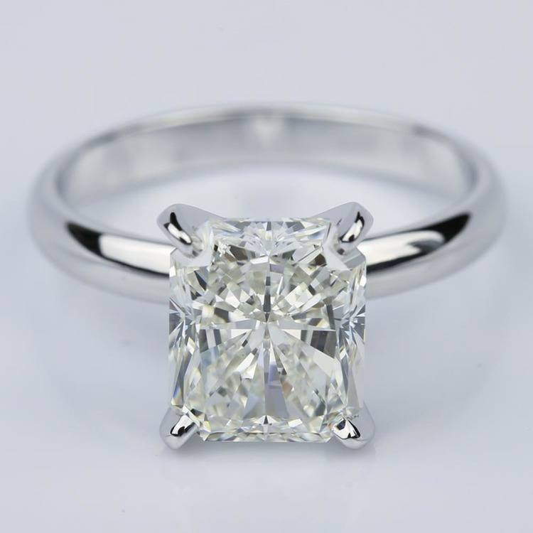 3.53 Carat Radiant Diamond with Classic Solitaire Engagement Ring