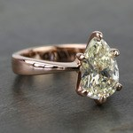 3 Carat Pear Diamond Custom Flat Taper Solitaire Engagement Ring - small angle 3